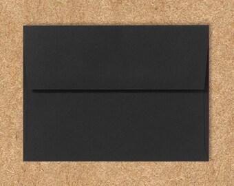 A10 Invitation Envelopes (6 x 9 1/2) - Midnight Black - Quantity of 50