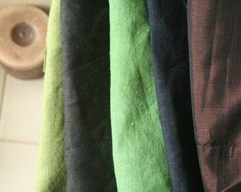 LINEN and SILK FABRIC / remnants / 10 pieces / linen fabric / silk fabric / australia / running threads
