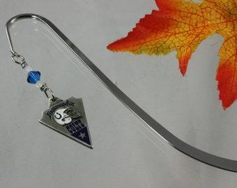 SALE Pewter Bookmark, Swarovski Crystal Bookmark, Charm