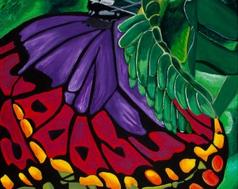 Butterfly: Original Acrylic Painting on Canvas