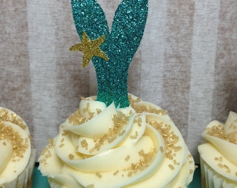 Mermaid Tail Cupcake Toppers | Mermaid Party Decor | Mermaid Birthday | Under the Sea