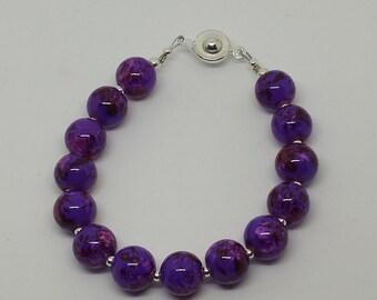 Marbled Purple Spotted Bracelet