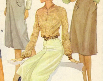 McCall's 6682 sewing pattern // misses skirts with buttoned waistband