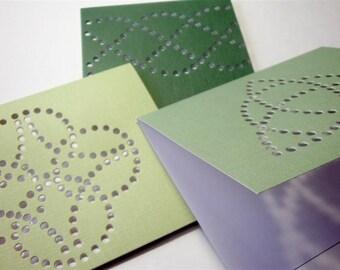 "Celtic Knot - ""Roman Christian Pattern Tattoo"" - Three Premium Hand-hammered Greeting Art Cards - Textured Card Stock DDOTS"