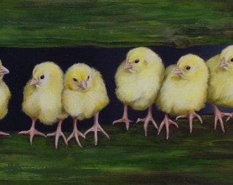 Meeting : Chicks Only oil painting
