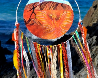 Earth Dreamer SpiritArt Mandala, Dreamcatcher, Totem Animal, Spirit Guide, Unique Visionary Art, Dream Catcher, Soulful Home Decor.