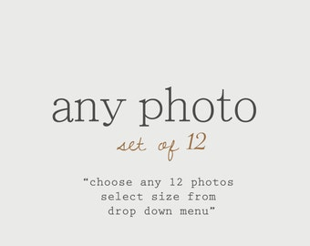 Discounted Set Customize Any Set of 12 Photos