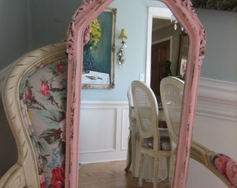 vintage girdle pink mirror with sweet tiny roses!