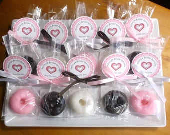 Donut Party - Donut Favors, Donut Party Favors, Donut Birthday, School Favors, Donut Baby Shower Favors - Set of 10