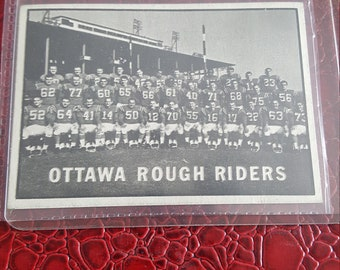 1961 Topps CFL # 88 Ottawa Rough Riders Team nrmnt.Combined shipping