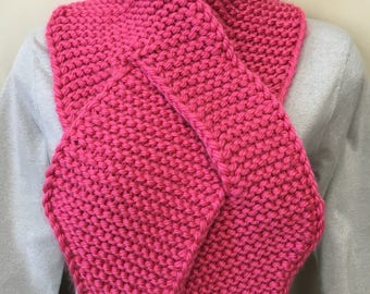 Pink Breast Cancer Awareness Ribbon Scarf