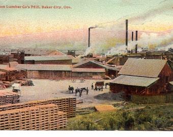 Vintage Postcard...Oregon, Baker City, Oregon Lumber Co.'s Mill...Unused...no. OR0001