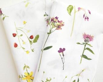 Crib Sheet, Changing Pad Cover, Wildflower Bedding,  Botanical Bedding, Wildflower Crib Sheet, Wildflower Changing Pad Cover, Boho Nursery