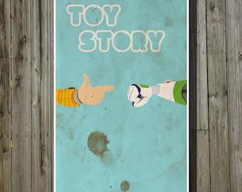 Toy Story movie poster Pixar print Disney minimalist poster geekery art nursery print