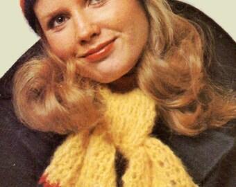 Crochet Pattern, Womens Crochet Beanie Pattern, Hat and Scarf Crochet Pattern. Gift Idea, INSTANT Download Pattern PDF (1501 MWU-4)