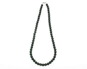 Use Code NEXT0RDER to get 10% off+ Free Shipping Malachite Necklace, Malachite Beads, Green Beaded Necklace, Hand Knotted Mala,