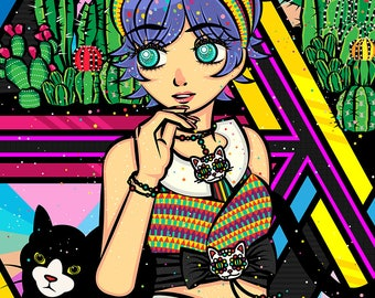 Cactus Lady is the New Cat Lady A3 Print