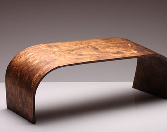 Hand Crafted Meditation Bench - ZenWork. Dark Wood