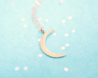 Crescent Moon Necklace | Gold Moon Necklace