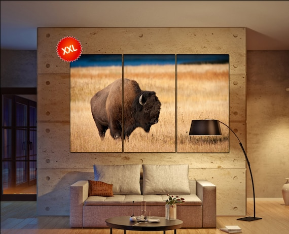 Bison  canvas wall art Bison wall decoration Bison canvas wall art art Bison large canvas wall art  wall decor