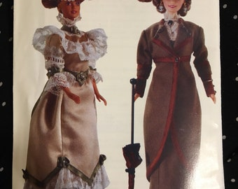 Vogue pattern historical doll clothing Linda Carr