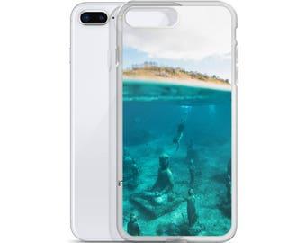 Underwater Monk's Statue iPhone Case Deep Sea Diver Smart Phone Case.