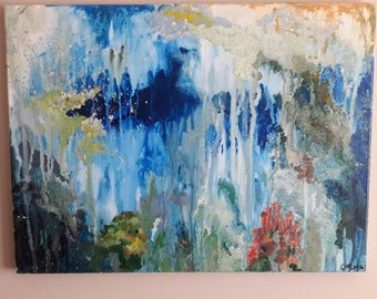 Somewhere I have travelled acrylic painting
