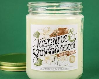Jasmine & Sandalwood Soy Candle
