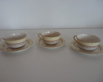 Cups and saucers Sarreguemines
