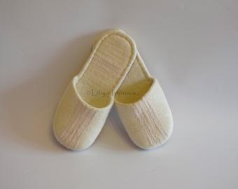 Felted slippers, Merino, handmade slippers, eco slippers