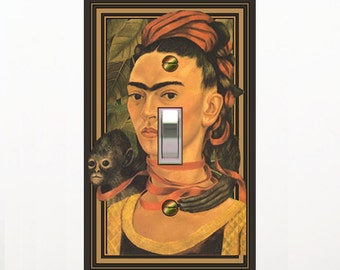 1556A - Frida Kahlo switchplate - - mrs butler switch plate covers - -ck out 1556b