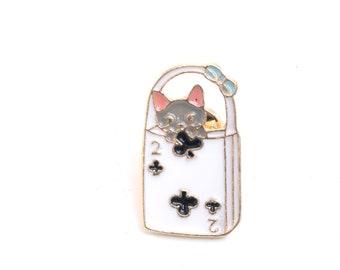 Cat pin, cat lapel pin, cat enamel pin, cat brooch, lapel pin, cat lover, pin badge, cat brooch, cat, cat jewelry,cat badge,kawaii, cute cat