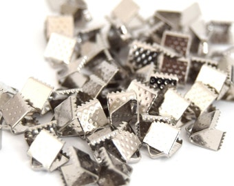 20 caps greenhouse son ref EA201603 6x8mm silver color findings