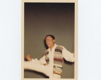 Vintage 1968 Kodacolor Print Snapshot Photo: Dancer (71541)