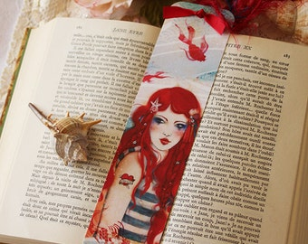 Bookmark - illustrated bookmark -  Pirate