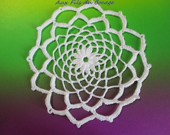 Placemat for Dreamcatcher, white, 15 cm, N32