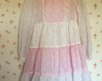 1960s Vintage Girls Dress Spring Summer 7/8 Years