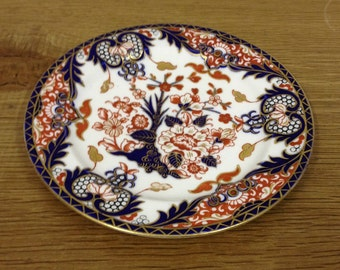 """Antique Royal Crown Derby 7"""" Dinner Plate - Pattern No. 383 Dated 1891 - 1921"""