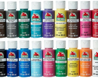Apple Barrel Acrylic Paint Set, 18 Piece (2-Ounce Bottles) Quality value
