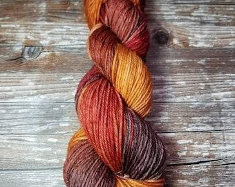 Hand dyed merino worsted weight variegated yarn 100g 175 yards indie dyed merino  south African merino