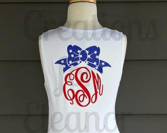 Girls Fourth of July Tank Top, Patriotic Tank Top, 4th of July Tank Top, American Tank Top, Girls Tank Top