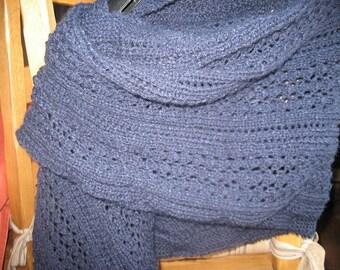 Navy Blue unisex scarf