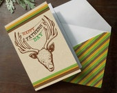 INSTANT DOWNLOAD Father's Day Deer Head HUnting Funny Card Taxidermy