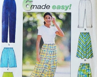 Women's Pants, Shorts and Skirt Pattern - Misses' Sizes US (6-16), Euro (32-42), FR (34-44) - Simplicity 7655 - 6 Made Easy Pattern - Uncut