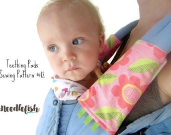 TEETHING PADS PATTERN - Drool Pads Pattern - Easy Sewing Pattern - Ergo Carrier - Soft Structured Baby Carrier