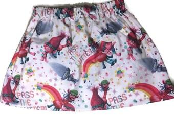 Sparkly trolls skirt, girls skirt, pass the glitter skirt, baby girl skirt, trolls glitter skirt, glitter skirt