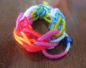 Rainbow Knit Bracelet: possibly haunted