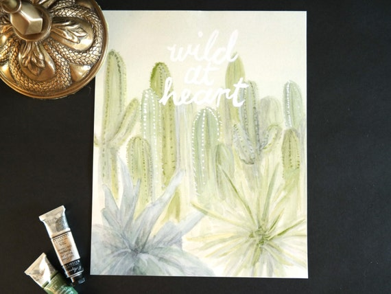 """Watercolor Wednesday Series: """"Wild at heart"""" art print of an original watercolor illustration"""