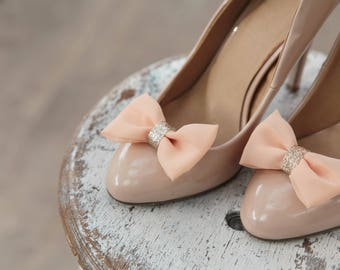 Pink and gold shoe clips