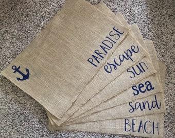 Nautical dining placemats